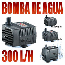 BOMBAS DE AGUA PARA ACUARIO 300L/H REGULABLE BOMBA SUMERGIBLE FUENTES ESTANQUES