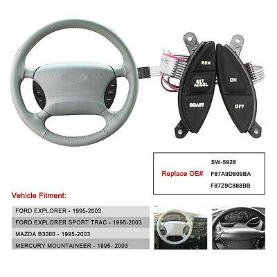 Steering Wheel Cruise Control Switch F87Z9C888BB Button Kit for Ford Explorer Ranger Sport 98-05
