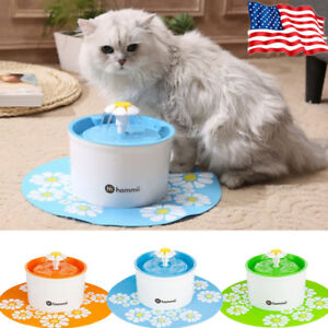 HOMMII AUTOMATIC CAT DOG WATER DRINKING FLOWER FOUNTAIN PET BOWL DRINK DISH 1.6L