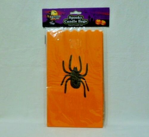 SPOOKY CANDLE BAGS PACK OF 3 CANDLE BAGS HALLOWEEN HAUNTED HOUSE
