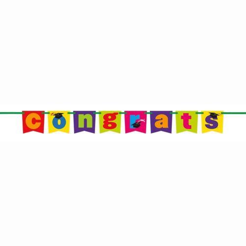 4.4ft Long New /& Sealed Graduation Congrats Block Banner Party Decoration