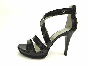SCARPE SANDALO SANDALI DONNA NERO GIARDINI ORIGINALE P512890D PELLE SHOES NEW