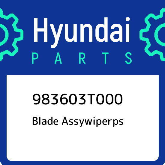 Hyundai 98360-3T000 Windshield Wiper Blade