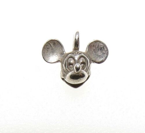 Mickey Mouse vintage Walt Disney 1978 Argent Sterling 3D Dainty petit charme FZ254