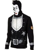$99 Volcom Kiss Fleece Full-zip Hoody Jacket Mens M L White Face Mask