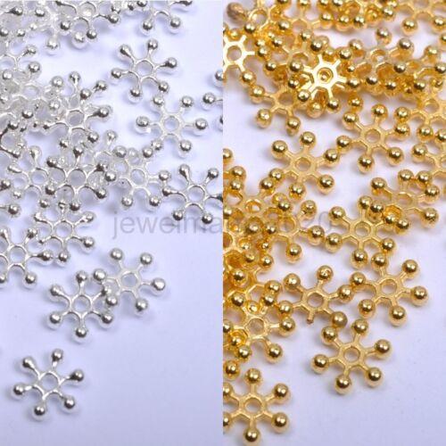 Choose 6MM,8MM,10MM 200Pcs Silver /& Golden FLOWER DAISY Spacer BEADS