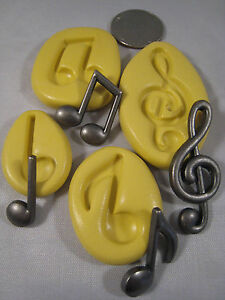 Musical Notes Silicone Mold Set Of 4 Gumpaste Fondant