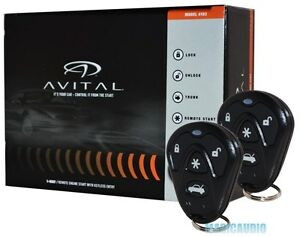 Avital-4103-Remote-Start-with-Keyless-Entry-Avital-4105-Car-Starter-NEW-MODEL