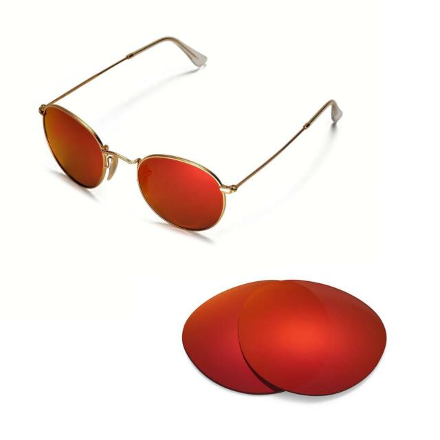 9e5bb19333 Walleva Polarized Fire Red Lenses for Ray-ban Round Metal Rb3447 50mm  Sunglasses for sale online