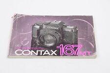 CONTAX 167 MD Quartz Instructions - Four Languages -
