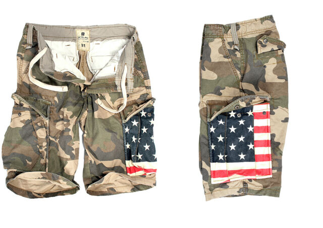 f545b77509 Jet Lag Men's Cargo Bermuda Shorts Short Trousers Army Camouflage ...