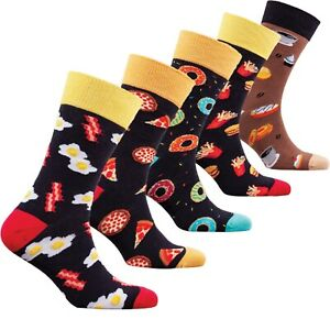 Socks n Socks-Men/'s 5-pair Luxury Fun Cool Cotton Colorful Dress Socks Gift Box