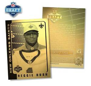 REGGIE-BUSH-2006-Laser-Line-Gold-Card-ROOKIE-Saints-Draft-Pick-NFL-1-000