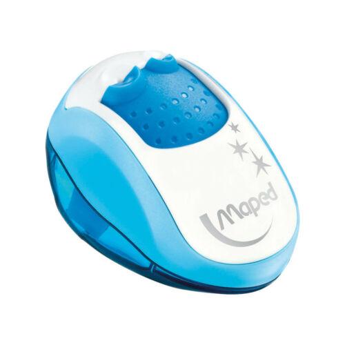 Anspitzer Clean 2-fach Spitzer dick dünn für Buntstifte Maped Auffangbehälter