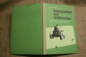 Fachbuch-Ackerbau-Landtechnik-Feldbau-Futter-Gruenland-Landwirtschaft-DDR-1953