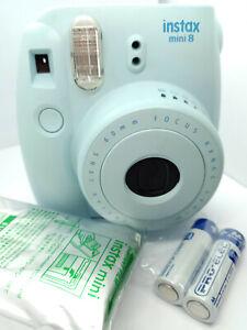 Fujifilm Instax MINI 8 Instant Camera - BLUE - with 10 shots Film Pack