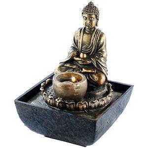 Happy Buddha Brunnen asiatischer Zimmerbrunnen Buddhabrunnen lachender Buddha