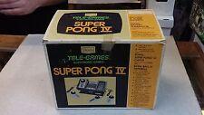 VINTAGE - ATARI SUPER PONG 4 / Tele-Games / SEARS GAME SYSTEM IN BOX - RARE !!