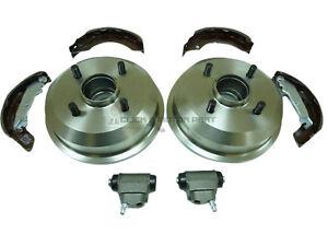 Ford-Puma-1-4-1-6-1-7-1997-1999-Trasero-2-los-tambores-de-freno-y-Zapatos-amp-De-2-Ruedas-Cilindros