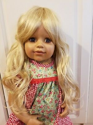 """WIG ONLY NWT Monique Melinda Light Brown Doll Wig 16-17/"""" fits Masterpiece Doll"""