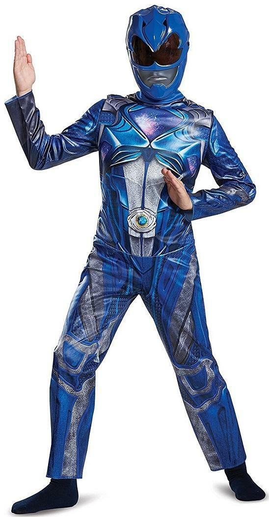 Classic Power Rangers Movie Blue Ranger Fancy Dress Halloween Child Costume