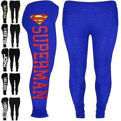 Modestil Girls Kids Batman Full Length Leggings Superman New York Like A Boss Jegging