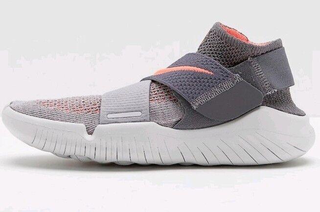Nike Free RN Motion Motion Motion Flyknit FK 2018 GS Atmosphere grau Crimson Puls Girls Uk 5.5  | Authentische Garantie  599193