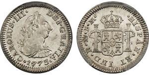 MEXICO-Charles-III-1773-Mo-FM-AR-1-2-Real-PCGS-MS64-Mexico-City-KM-69-2