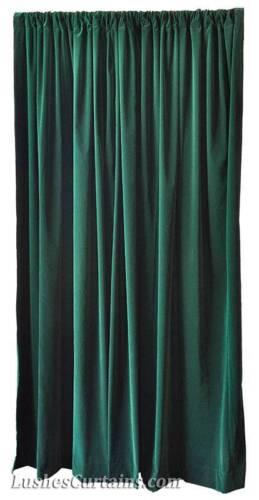 """New Forest Green 108/""""H Velvet Curtain Long Single Panel Banquet Room Decor Drape"""