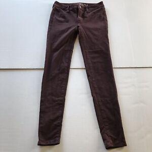 e07cf2c53ac31 American Eagle Dark Red Maroon Jegging Ponte Pants Size 2 A1126 | eBay