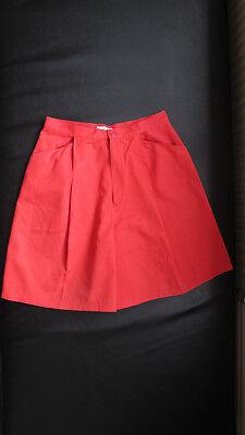 Un Paio Di Pantaloncini Vintage Rosso Per Una Donna Da Cacharel (anni 1980)-mostra Il Titolo Originale