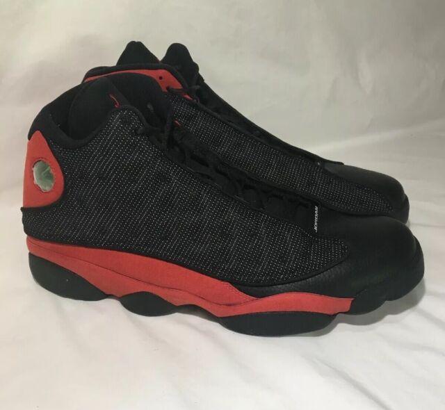 fresh styles later designer fashion Nike Air Jordan 13 Retro Black True Red Bred 414571-004 Size 18 ...