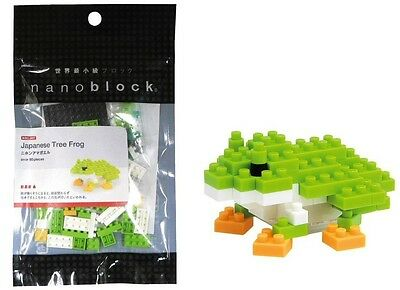 NEW NANOBLOCK NBC.007 JAPANESE TREE FROG MINI SERIES 80 Pieces