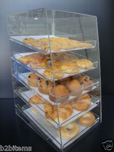 DS-Acrylic-Pastry-Bakery-Donut-CUPCAKE-Stand-Display-Case-with-5-trays