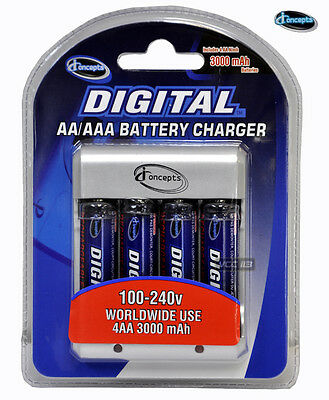 Charger with 4 AA Rechargable battery 2700mAh