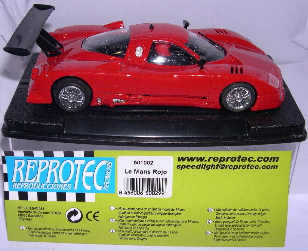 REPROTEC 501002  SLOT CAR NISSAN R390 GT1  LE MANS  RACING   rojo    MB