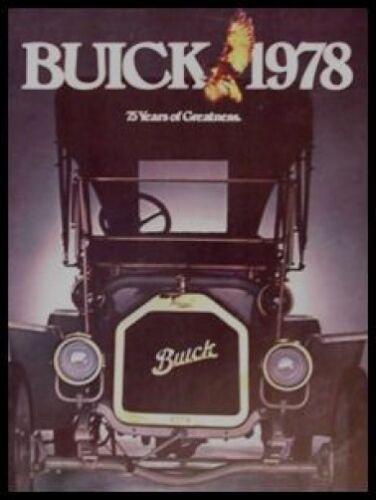 1978 Buick Prestige Brochure Electra Riviera Regal 225