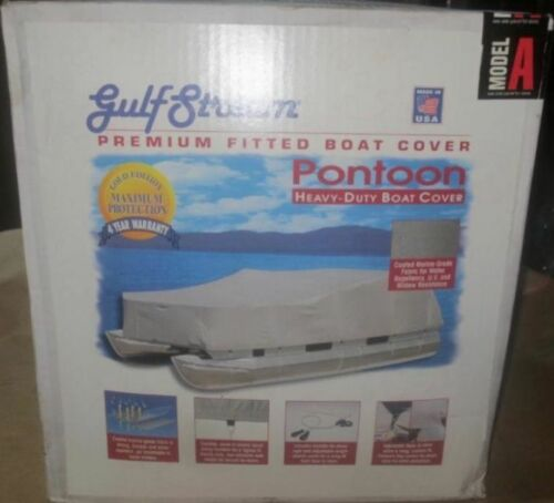 GulfStream 17/'-20/' Pontoon Boat Cover BC411 Model A Coated Cotton Canvas Gray