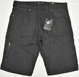 Rocawear-Jean-Shorts-Men-Pieced-Zip-Pocket-Denim-Raw-Black-Urban-Streetwear-P384