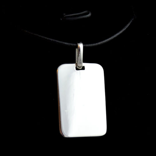 PENDANT /& NECKLACE STERLING SILVER  PHOTO TEXT ENGRAVED ARMY STYLE DOG TAG