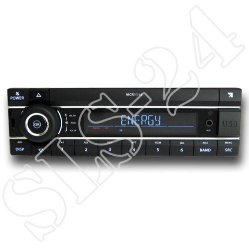 """KIENZLE mcr-1114 autoradio radio mp3 USB FM RDS KFZ car sintonizador /""""sin CD/"""" Player"""