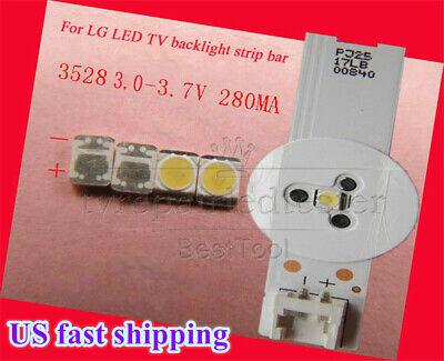 100pcs 3528 2835 3V SMD Lamp Beads Original For LG LED TV Strip Bar Repair