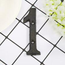 Metal Digital Numbers Iron House Sign Doorplate DIY Wall Decor BEST U8X5 W3V2