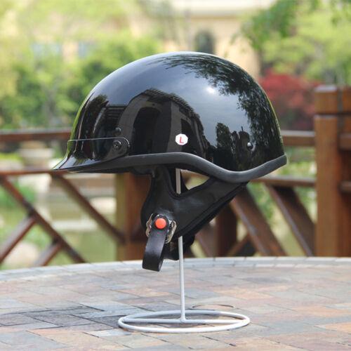 AMZ 808 Motorcycle Helmet Chopper Cruiser DOT Open Face Half Helmet VISOR