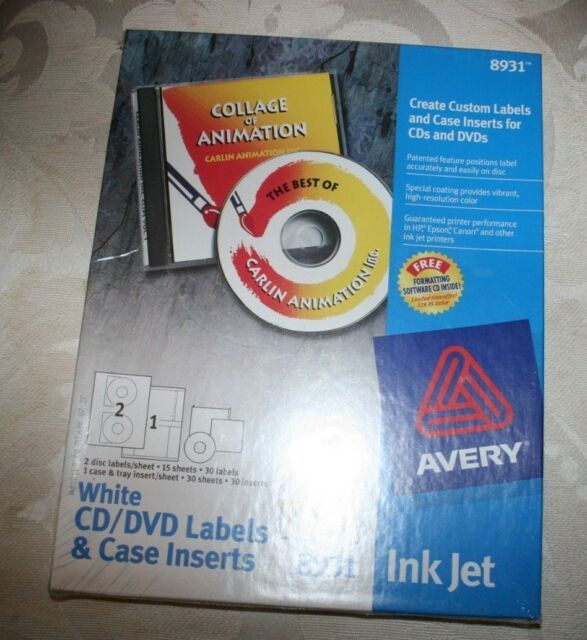 avery 8931 cd dvd label kit software 30 disc labels 30 jewel case
