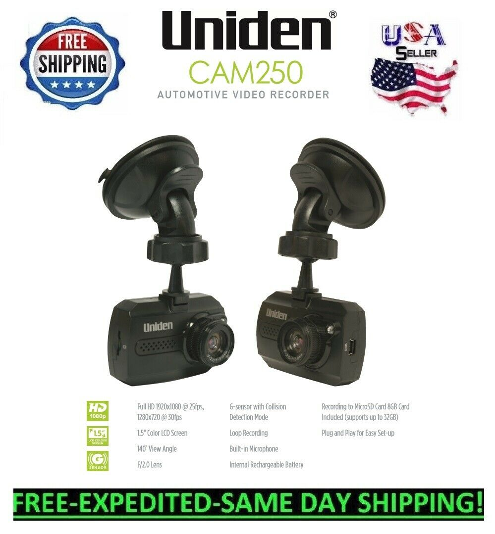 Uniden CAM500 HD Dash Cam Automotive Video Recorder