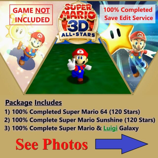 Super Mario 3D All-Stars (Switch Save Edit) Service, NOT A GAME