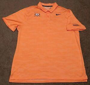 742230f6 Nike DRI FIT Tiger Woods Collection Men's Golf Orange Polo Shirt ...