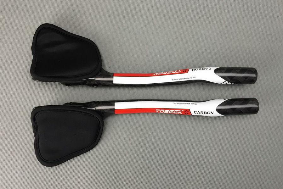 TOSEEK Carbon 12K Road Bike TT Triathlon  Aero Bar rest Handlebar Aerobar 31.8mm  high quality & fast shipping