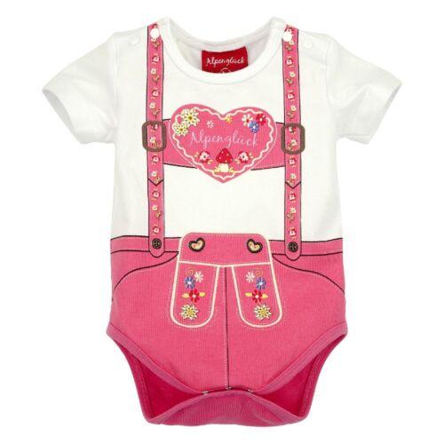 85612 Bondi Mädchen Baby Trachten Body Alpenglück Neu 56 62 68 74 80 86 Sommer